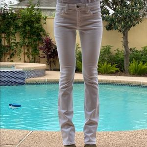 Joes Jeans WHITE slim fit with mini boot cut